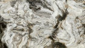 Grey curly marble pattern. Marble pattern with curly grey and black veins. Abstract texture and background. 2D illustration Royalty Free Stock Photo