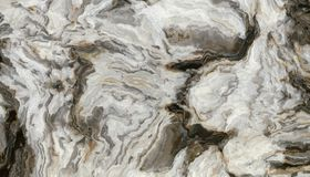 Grey curly marble pattern. Marble pattern with curly grey and black veins. Abstract texture and background. 2D illustration Royalty Free Stock Images