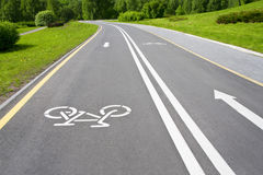 Grey cycle track Royalty Free Stock Photography