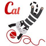 Grey del gatto Immagine Stock Libera da Diritti