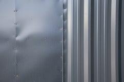 Grey del metallo del fondo Fotografie Stock Libere da Diritti
