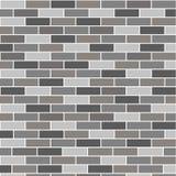 Grey del muro di mattoni Fotografie Stock