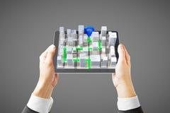 grey del navigatore 3D Fotografie Stock Libere da Diritti