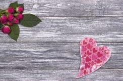 Grey della decorazione di giorno di S. Valentino Fotografia Stock Libera da Diritti
