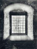 Grey della finestra di nobiltà Fotografie Stock