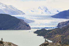 Grey di Glaciar Fotografie Stock Libere da Diritti