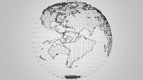 Grey di introduzione del plesso della terra illustrazione di stock