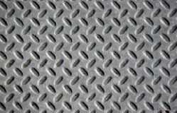 Grey Diamond Plate Royalty Free Stock Photos