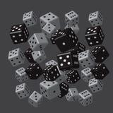 Grey Dice Pattern noir Illustration de Vecteur