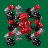Grey Dice Pattern noir rouge Illustration de Vecteur