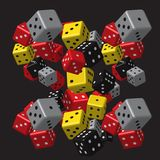 Grey Dice Pattern rouge Images stock