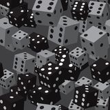 Grey Dice Seamless Pattern noir Images stock