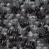 Grey Dice Seamless Pattern noir Photo stock