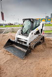 Grey diesel front end loader Stock Photo