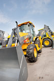 Grey diesel front end loader Royalty Free Stock Photos