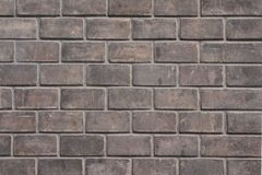 Grey dirty brick wall Stock Photography