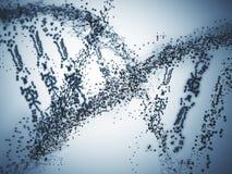 Grey DNA closeup. Abstract grey DNA closeup. Science concept Royalty Free Stock Images