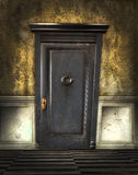 Grey door with grunge effect Stock Images
