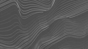 Grey dotted lines refraction waves video animation