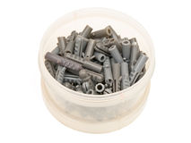 Grey dowel pins Royalty Free Stock Photography