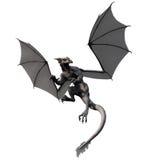 Grey Dragon. A grey dragon in flight turns at bay vector illustration
