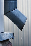 Grey drainpipe Stock Photography