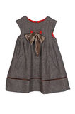 Grey dress for a girl Royalty Free Stock Image