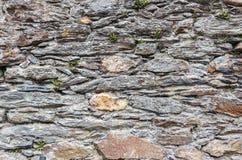 Grey dry stone wall. Royalty Free Stock Photo