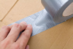 Grey Duct Tape Royalty Free Stock Photography