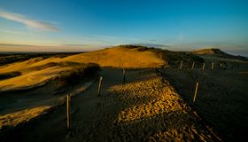 Grey dunes in Lithuania Nida royalty free stock images