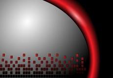 Grey e colore rosso astratti della priorità bassa Immagine Stock Libera da Diritti