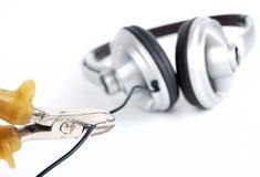 Grey earpiecess Royalty Free Stock Photos