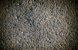 Grey earth and gravel macro texture background high contrasted Stock Photo