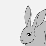Grey easter rabbit white background Animal. Vector Illustrator Easter Bunny Royalty Free Stock Image