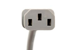 Grey electric plug Stock Image