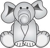 Grey Elephant. Cute Grey toy Elephant sitting Stock Photo