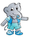 Grey elephant illustration Royalty Free Stock Image