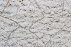 Grey embossed wall. The honor of finishing the basement of an old building Stock Photography