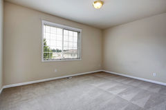 Grey empty room. With carpet floor and one window Stock Photography