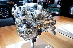 Grey engine Mersedes Stock Photography
