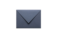 A grey envelope on the wood desk, Stock Image