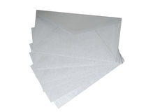 Grey envelopes on white background. Royalty Free Stock Images