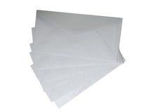 Grey envelopes on white background. Royalty Free Stock Images