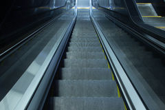 Grey escalator stairs Royalty Free Stock Photos