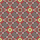 Grey ethnicity pattern. Floral seamless pattern with ethnicity motif vector illustration