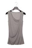 Grey extravagant blouse Stock Photo