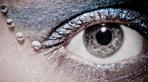 Grey eye Royalty Free Stock Photos