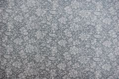 Grey fabric background. With Chinese traditional pattern stock illustration
