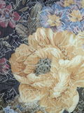 Grey fabric with flowers Royalty Free Stock Photo