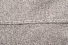 Grey Fabric Seam Swatch immagine stock